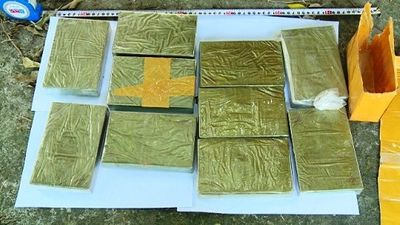 Vĩnh Phúc: Bắt giữ 2 đối tượng vận chuyển 10 bánh heroin - ảnh 1