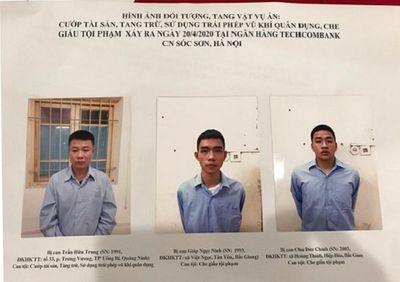 Hà Nội: Khởi tố các đối tượng liên quan vụ nổ súng cướp ngân hàng ở Sóc Sơn - ảnh 1