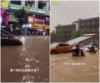 """Phượng Hoàng cổ trấn """"đổi màu"""" do mưa lũ nghiêm trọng - ảnh 1"""