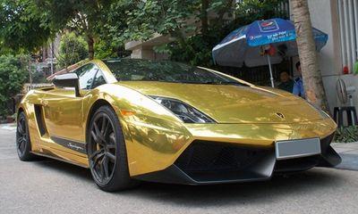 Siêu xe Lamborghini Gallardo 'dát vàng' duy nhất tại Hà Nội