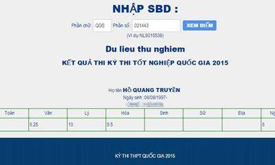 Gặp chàng trai duy nhất đạt điểm 10 môn Lý kỳ thi THPT Quốc gia 2015