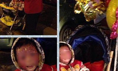 Xót xa cậu bé 4 tuổi bị viêm da theo mẹ bán bóng bay ở HN