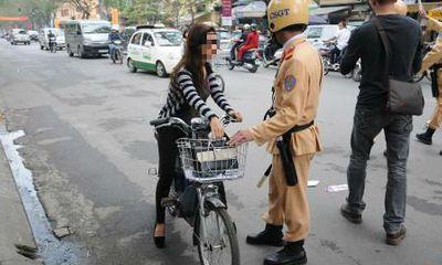 Xe đạp điện không đội mũ bảo hiểm phạt bao nhiêu tiền?