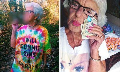 """Phong cách trẻ trung của cụ bà 86 tuổi khiến hot girl cũng """"nể phục"""""""