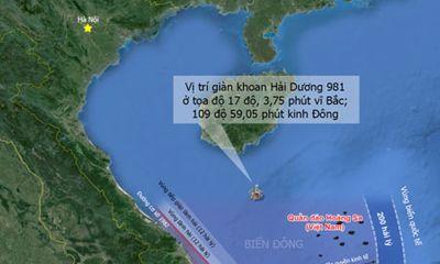 Theo dõi sát sao hoạt động của giàn khoan Hải Dương-981