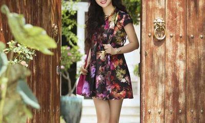 Hoa hậu Giáng My váy ngắn sành điệu xuống phố