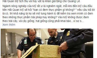 Hải quan Mỹ tịch thu vật lạ khán giả tặng Quang Lê