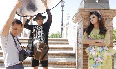 Hậu trường Kim Tuyến chụp ảnh cưới ở Tây Ban Nha