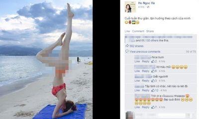 Hồ Ngọc Hà mượn yoga khoe vòng 3: Đẹp hay phản cảm?