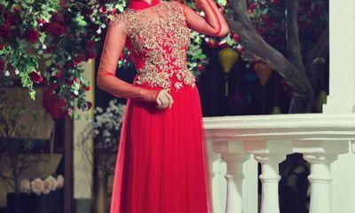 Diễn viên Vân Trang diện áo dài cưới, làm cô dâu xinh đẹp