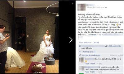 Tranh cãi về sự khác nhau của chú rể Việt và Tây khi đưa cô dâu đi thử váy cưới