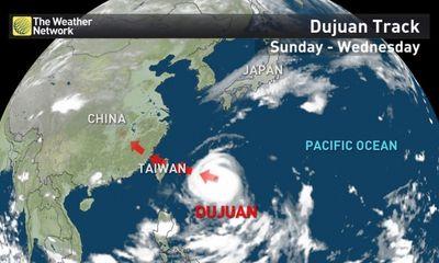 3,000 người sơ tán do bão Dujuan tại Đài Loan
