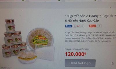 Giá Yến sào: Tung voucher lấp lửng giảm giá, hóa ra bù tiền