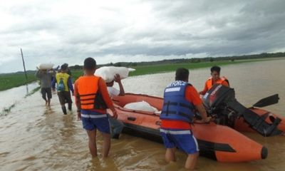 Chùm ảnh: Siêu bão Koppu khiến 20.000 người phải di tán