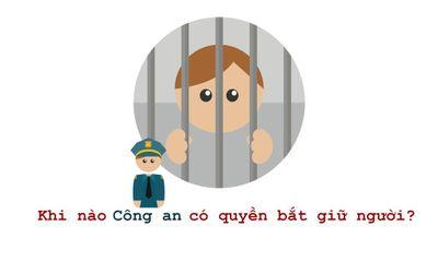 Công an có quyền bắt giữ người khi nào?