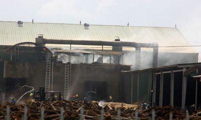 Lại cháy nhà máy chế biến gỗ trong KCN Nam Đông Hà