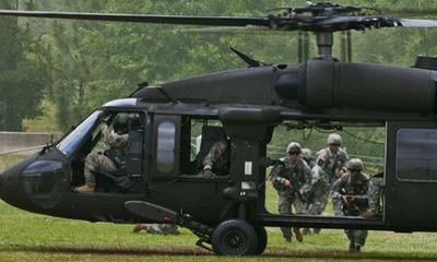 Trực thăng quân sự rơi ở Mỹ, 4 người thiệt mạng