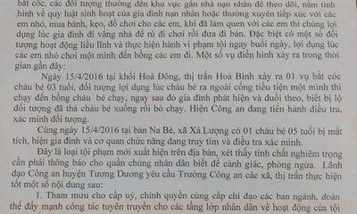 Cảnh báo tình trạng bắt cóc trẻ em ở Nghệ An