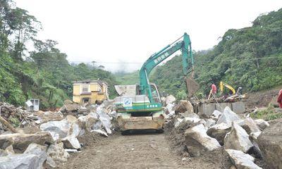 Lào Cai: Thông xe tạm thời đoạn Bản Khoang - Bản Xèo