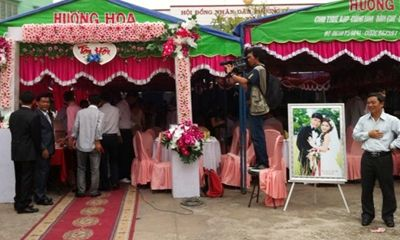 Bí thư phường tổ chức tiệc cưới con trai ngay tại cơ quan