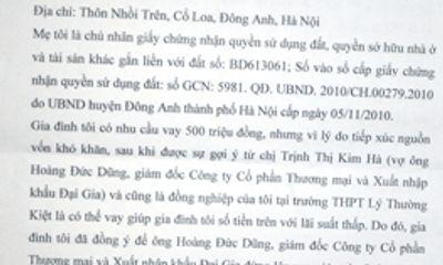 Hà Nội: Đại gia biến mất sau khi gán