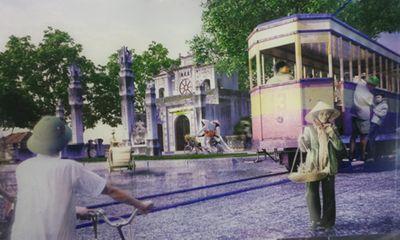 Ngắm tàu điện Hà Nội với công nghệ 3D