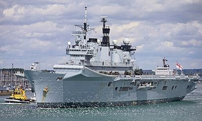 Tàu sân bay trực thăng của Anh có nguy cơ bị xẻ sắt vụn