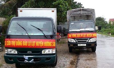 Những chuyến hàng cứu trợ đã về với vùng lũ Hà Tĩnh