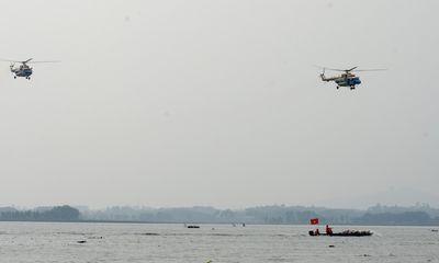 Trực thăng Việt Nam tham gia diễn tập cứu trợ đồng bào lũ lụt