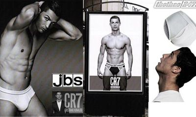 Ronaldo quảng cáo cho thương hiệu đồ lót