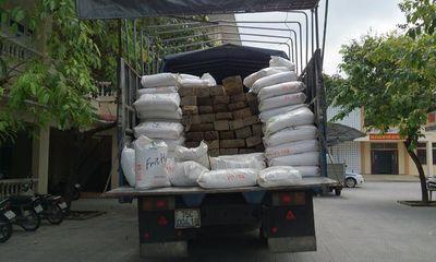 Bắt giữ chiếc xe tải chở 46 phách gỗ quý hiếm