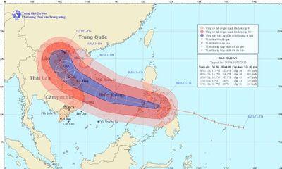 Chủ nhật, siêu bão Hải Yến giật trên cấp 17 vào miền Trung