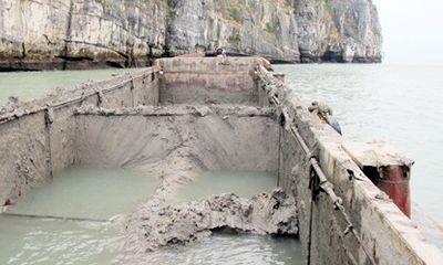 Xả trộm hàng trăm m3 bùn thải xuống vịnh Hạ Long
