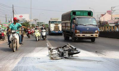 Tai nạn giao thông, thanh niên bốc cháy như đuốc sống