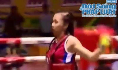 Clip: Võ sỹ Bùi Thị Quỳnh xuất sắc hạ đối thủ người Thái Lan