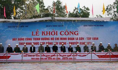 Khởi công tuyến đường cao tốc Hồ Chí Minh đoạn La Sơn - Túy Loan