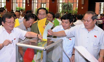 Tạm dừng lấy phiếu tín nhiệm tại Quốc hội