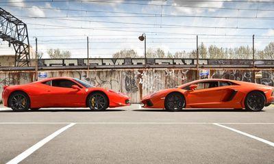 Bò tót Lamborghini Aventador đọ sắc cùng Ferrari 458 Italia