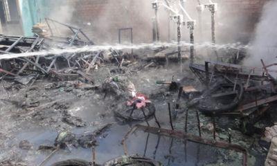 Đà Nẵng: Cháy lớn tại xí nghiệp môi trường Ngũ Hành Sơn