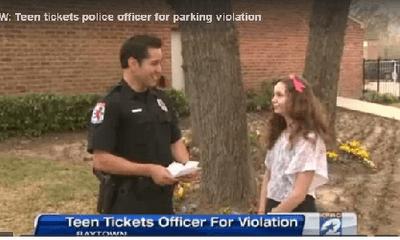 Thiếu nữ Mỹ được thưởng vì phạt cảnh sát đỗ xe ẩu