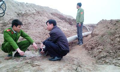 """Hà Nội: Phát hiện thêm một vụ """"cát tặc"""" ở Đông Anh"""
