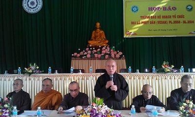 Huế: Họp báo chuẩn bị cho Đại lễ Phật Đản VESAK