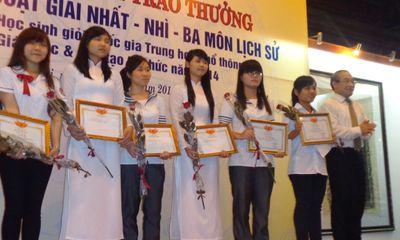 Lần đầu tiên Hà Nội có HS đạt giải nhất quốc gia môn Lịch sử