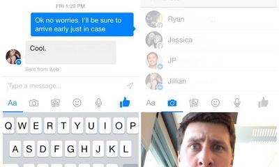 Facebook Messenger tăng lực cho chia sẻ ảnh và video