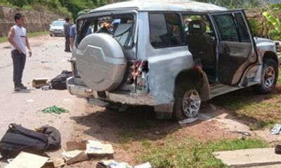 Ô tô lên Điện Biên nổ lốp, 3 cán bộ công an tử nạn