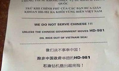 """Nha Trang: Khách sạn thông báo """"Không phục vụ khách TQ"""""""