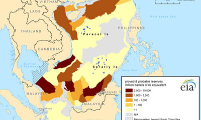 Trung Quốc hí hửng về tiềm năng khí đốt ở vùng biển Việt Nam