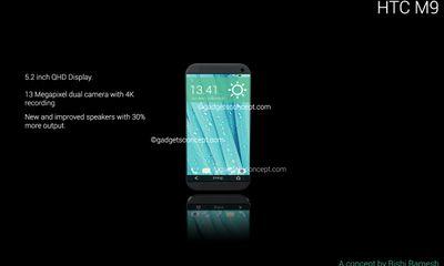 HTC One M9 với thiết kế bo cong cực kỳ ấn tượng