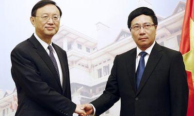 Phó Thủ tướng Phạm Bình Minh hội đàm với ông Dương Khiết Trì