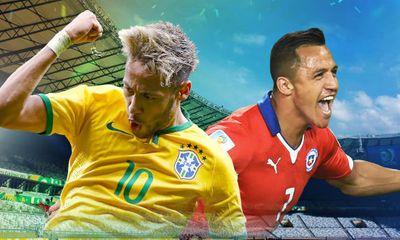 World Cup 2014: Dự đoán tỷ số trận Brazil đấu với Chile 23h(28/6)